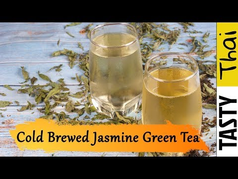 How to Make Cold Brewed Tea - Jasmine Green Tea Easy Cold Brew