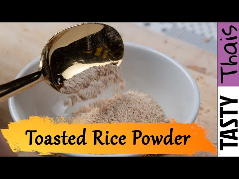 Toasted Rice Powder Recipe - Homemade Aromatic Roasted Rice Powder