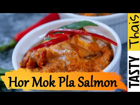 Thai Salmon Curry Steamed with Coconut Cream & Basil Recipe