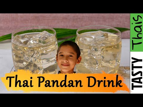 Pandan Drink - Refreshing Thai Cooler - 3 Ingredients - 5 Minutes
