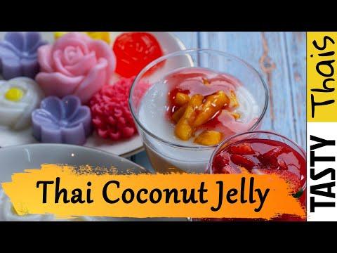 Coconut & Strawberry Jello Flowers - Kid & Vegan Friendly Agar Agar Art Desserts