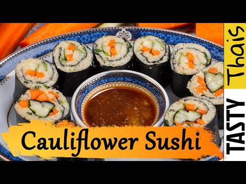 Low Carb Sushi Without Rice - Cauliflower Rice Sushi - Low Carb & Keto Friendly