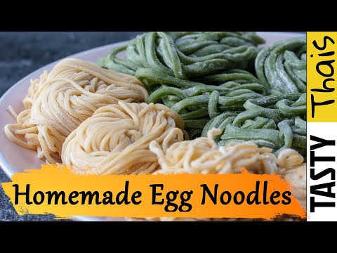 Awesome Homemade Egg Noodles Recipe - Great for Thai dishes & Fun for Kids