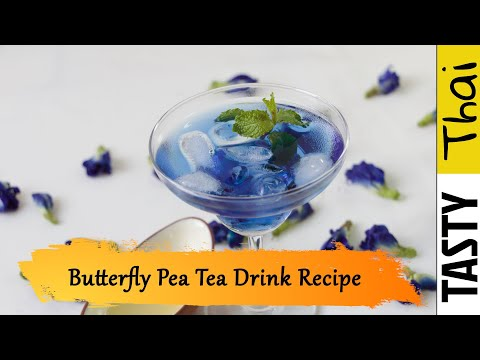 How to Make Butterfly Pea Tea - (Tasty Thai Cool Drink for 2019)