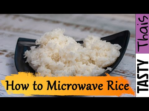 How to Cook The Best Microwave Rice in a Bowl - Thai Jasmine or White Rice