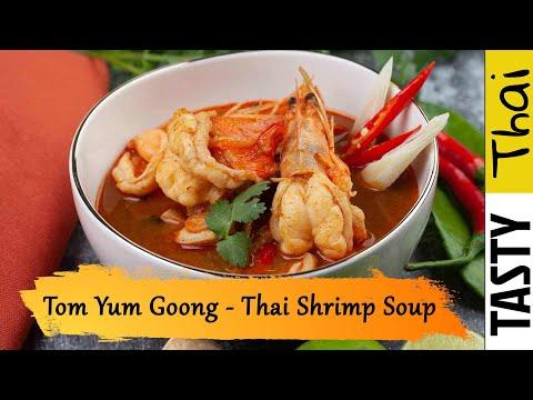 Easy Tom Yum Goong Recipe - Best Authentic Thai Hot & Sour Shrimp Soup with Chili Paste (Nam Kon)