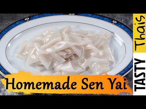 Homemade Flat Wide Rice Noodles Suitable for Various Thai Noodle Dishes