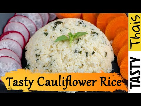 Homemade Stir Fried Cheesy Cauliflower Rice with Lemon Basil