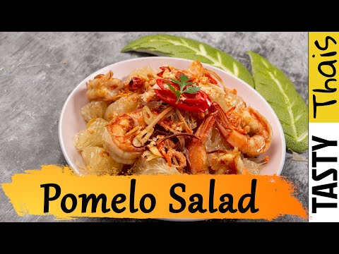 Pomelo Salad - Thai Grapefruit Salad - Yum Som O