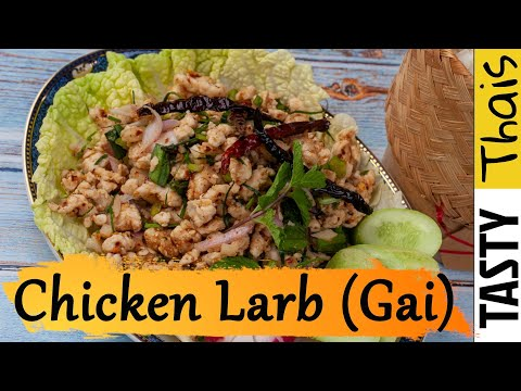 Authentic Chicken Larb Gai Recipe - Low Calorie Thai Minced Chicken Salad