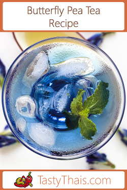 Image for Butterfly Pea Flower Tea Recipe