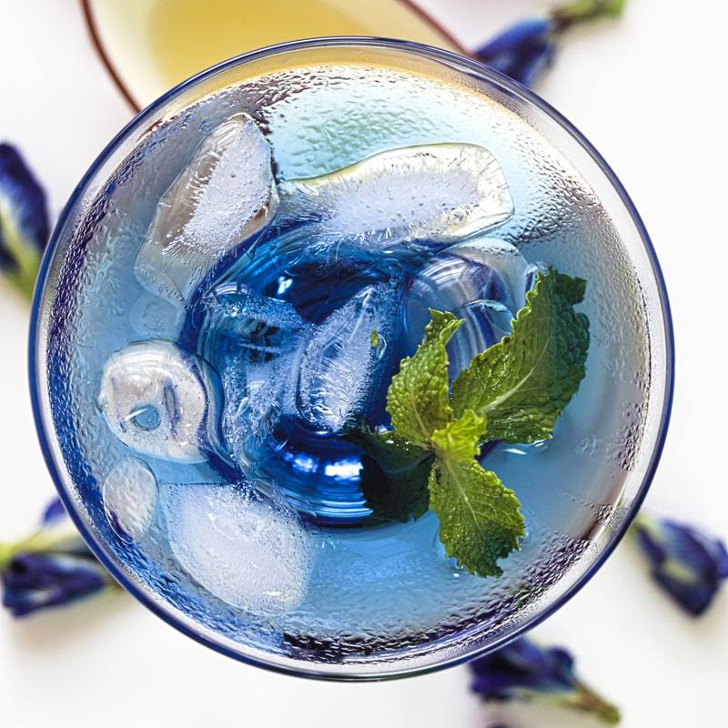 Butterfly Pea Flower Tea Mocktail