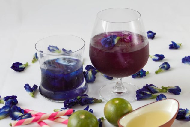 How to Make Butterfly Pea Tea & Change its color by adding lime
