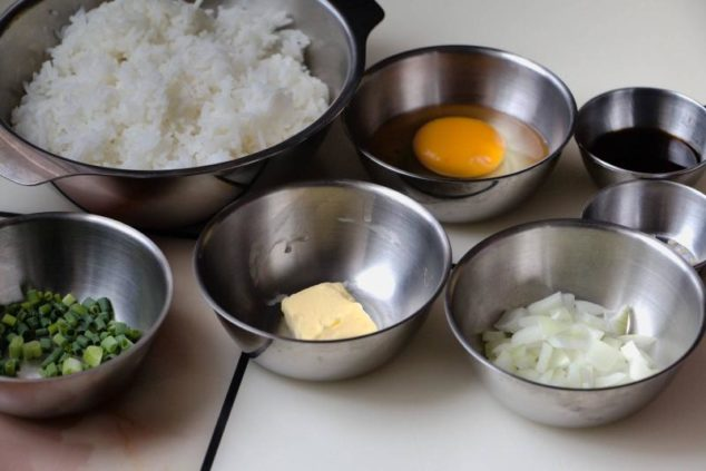 Image of ingredients for Easy Egg Fried Rice