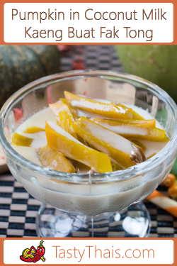 Thai Creamy Coconut & Pumpkin Sweet