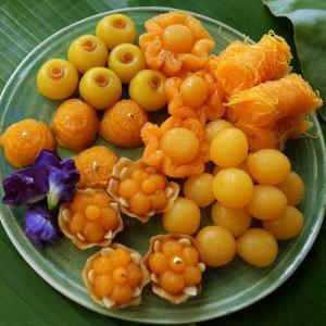 Delicious sweet Thai desserts