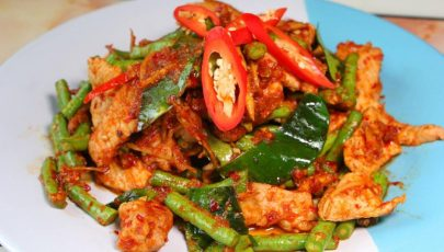 Photo of delicious Thai pad prik king moo dish