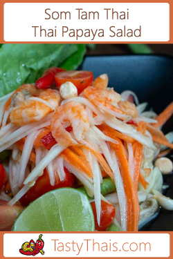 Thai Papaya Salad or Som Tam Thai