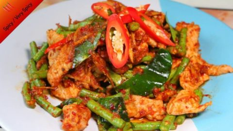 Photo of pad prik king recipe with delicious prik khing curry