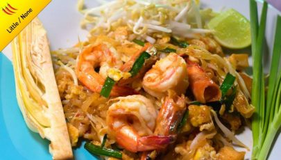 Photo of delicious shrimp pad thai