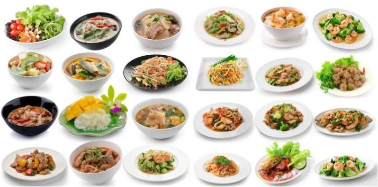 Photo of various thai dishes
