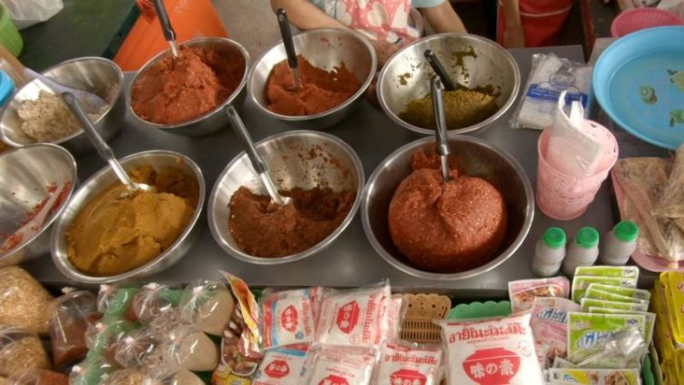 Photo of Thai Curry Pastes at the Local market