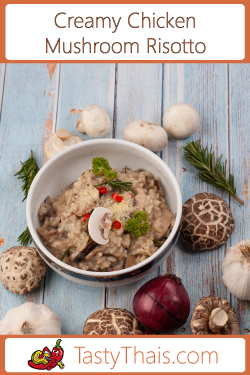 Photo of teh best creamy chiken & mushroom risotto recipe dish for beginners and experts