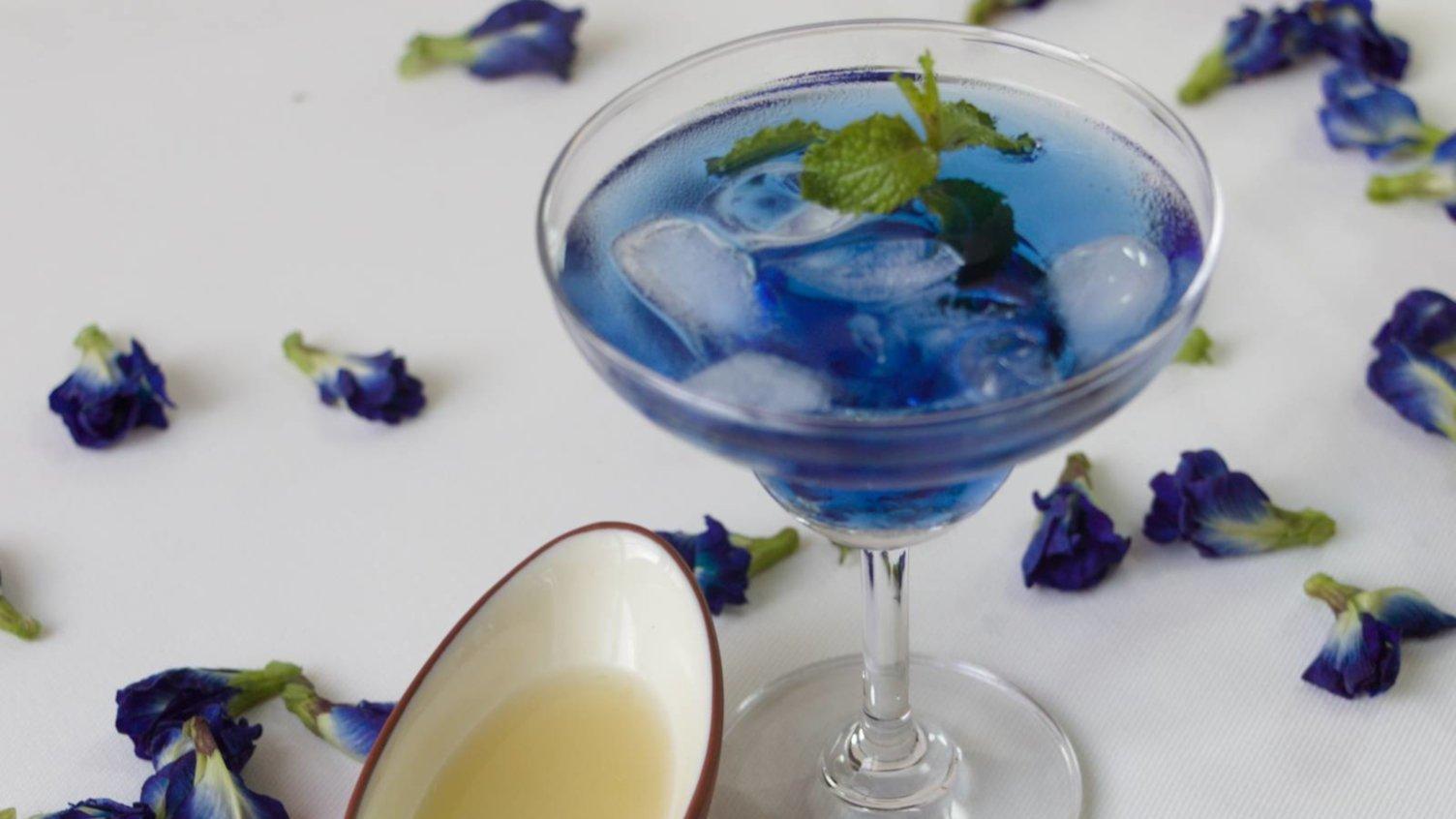 Iced Blue Tea
