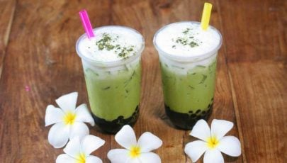 photo of matcha green tea