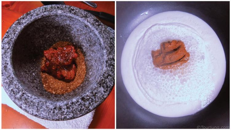 Curry Paste Being Improved with freshly toasted and ground spices