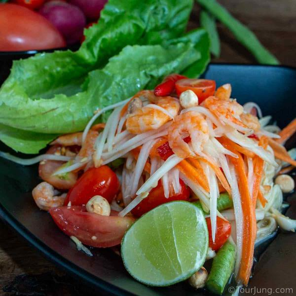 Photo of Som Tam Thai or Green Papaya Salad - it is very healthy and tasty