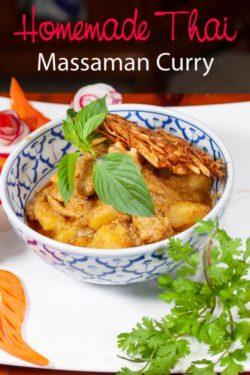 Photo of homemade massaman chicken curry