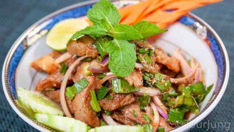 Photo of finished Thai Beef Salad dish