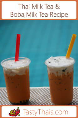 Picture of Boba Milk Tea by the Pool in Thailand