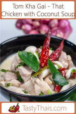 Photo of Tom Kha Gai Dish Served