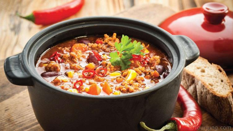 Photo of a pot of Chili Con Carne - A Chili recipe enjoyed globally
