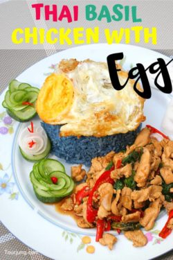 photo of Thai Basil Chicken with Yummy Fried Egg