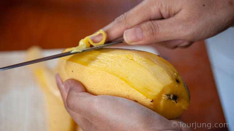 Photo of Peeling the Mango