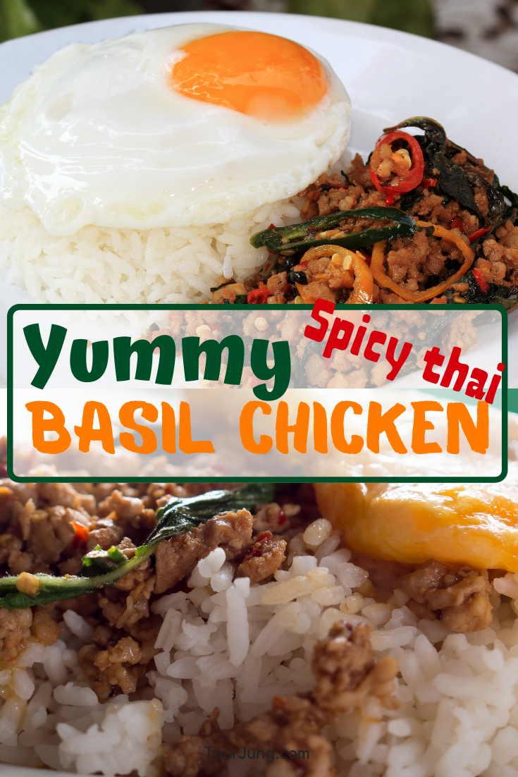 photo of yummy spicy Thai Basil Chicken