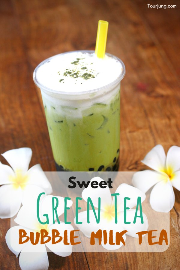 Green Tea with Boba