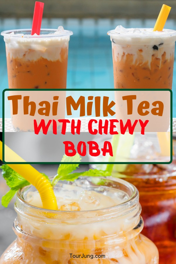 That milk tea with Chewy Boba