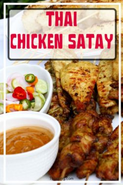 photo of Thai chicken satay
