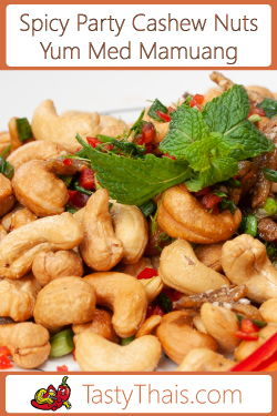 photo of spicy Thai cashew snack mix