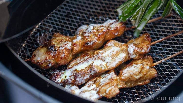 photo of basting air Fryer Chicken