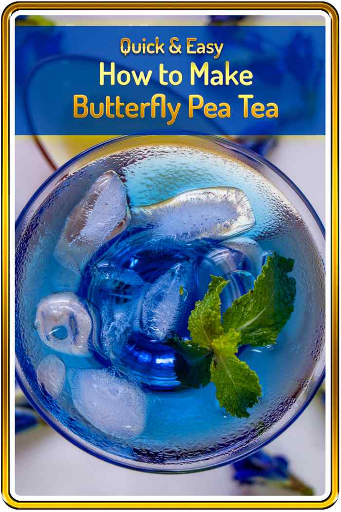 photo of the beautiful butterfly pea tea