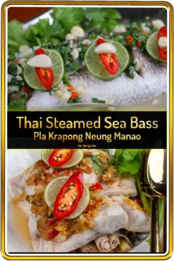 Pin image for Thai steamed sea bass with lime sauce