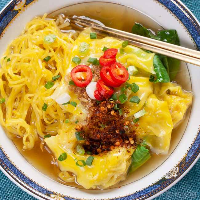 photo of chicken noodle soup thai style