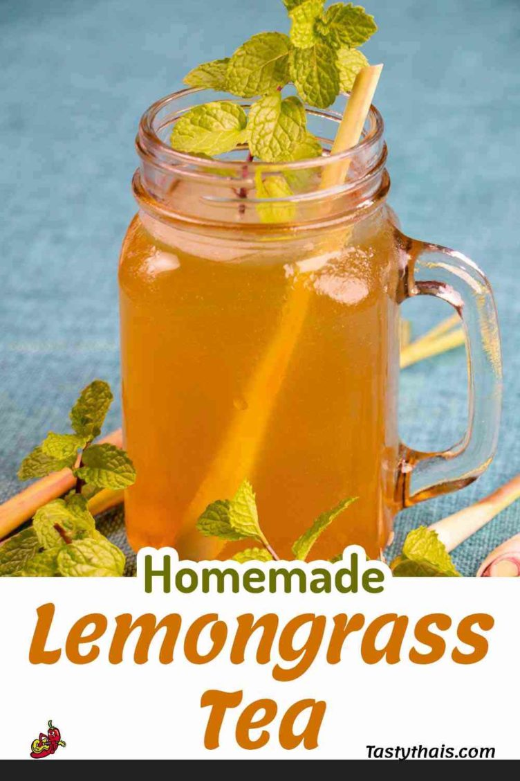 photo of homemade lemongrass tea