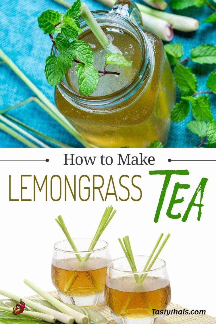 pin image for Thai lemongrass iced tea