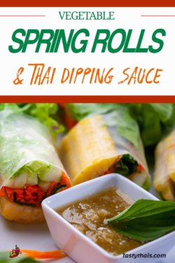 Super Thai dipping sauce for fresh vegan spring rolls